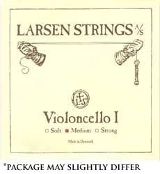 Larsen 4/4 Violin String Set Medium Gauge with Ball-End E